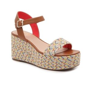 NEW mix no 6 cammie wedge woven espadrille sandal